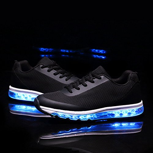 EQUICK Air Cushion Led Light Up Shoes Fashion Breathable Sneaker for Men  Women Boys Girls (Toddler Little Kid Big Kid) 300b01aeea